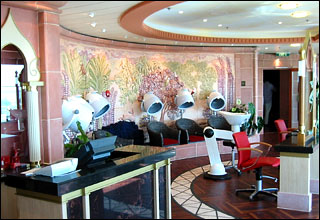 Hair Salon on Celebrity Solstice