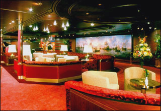 Explorer's Lounge on Prinsendam