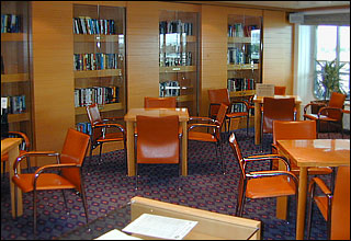 Library on Celebrity Solstice