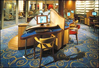 Internet Caf on Celebrity Silhouette
