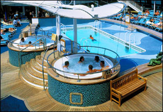 Whirlpools on Majesty of the Seas