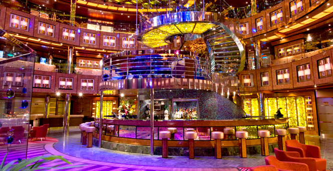 Lobby and Atrium Bar on Carnival Ecstasy
