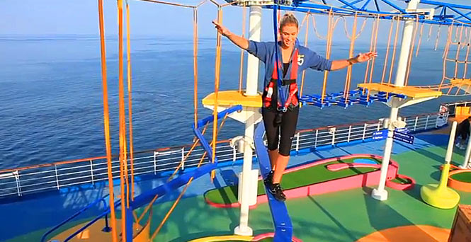 Ropes Course on Carnival Magic